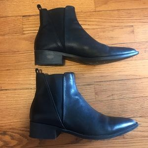 Steve Madden leather ankle booties